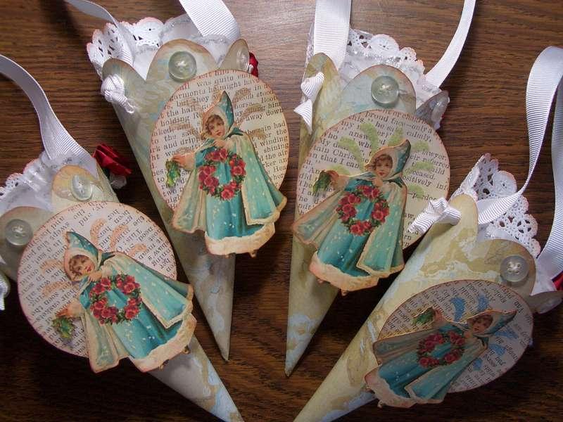 Nostalgic Cone Ornaments