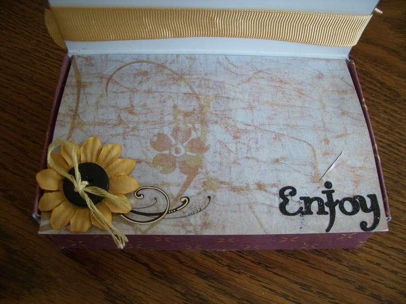 Inside Gift Card Box
