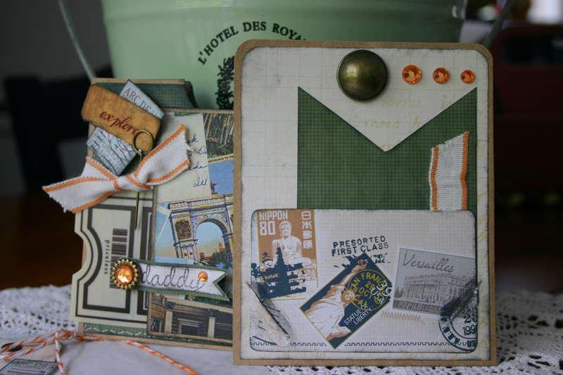 Masculine DADDY Gift Card Holder with Glassine Envelope & Tag