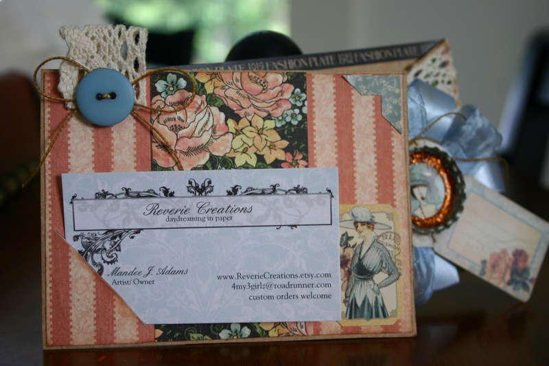 Inside FASHION PLATE Criss Cross Gift Card Holder