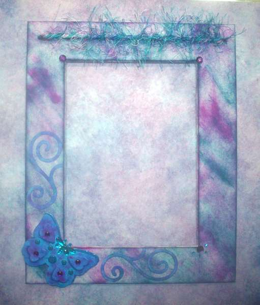 Fun Fur Trimmed Butterfly Frame