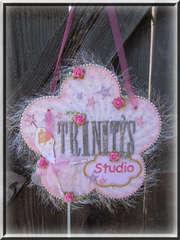 Ballerina Door Name Plaque