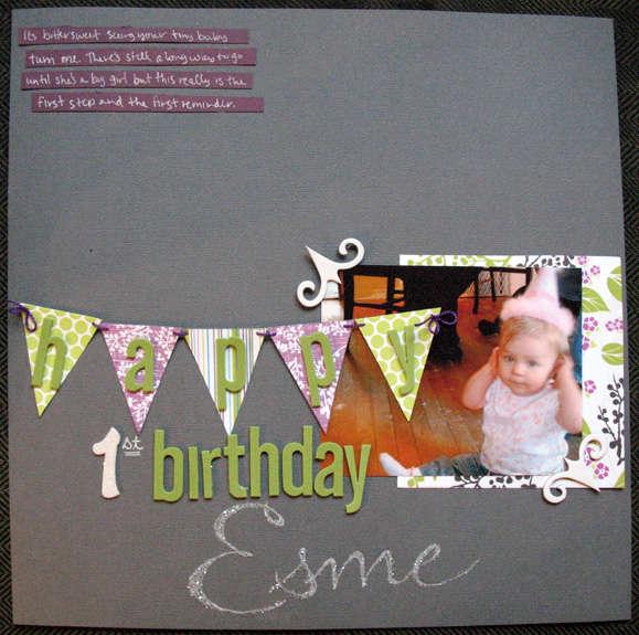 happy 1st Birthday Esme