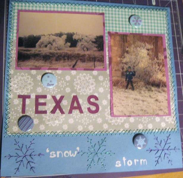 "Texas ""Snow""  Storm"