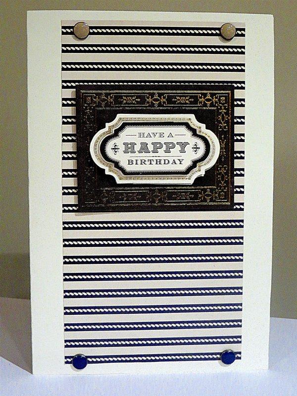 Happy Birthday Male Card