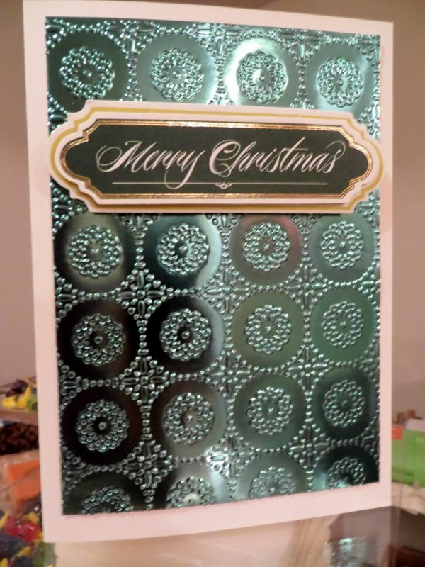 Teal / Green Christmas Card - Anna Griffin