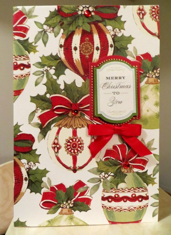 3 Cards Combined - Festive Colors of Red and Ivory - Large Card