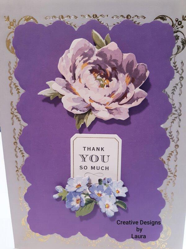 Purple Lavender Thank You Card