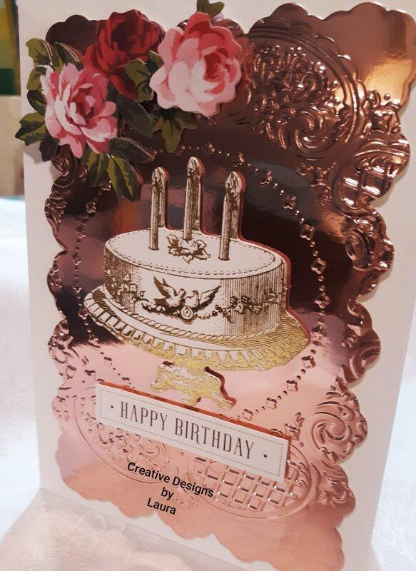 Rose Metallic Birthday Layering