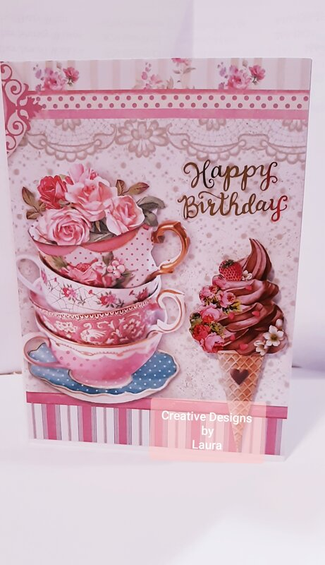 Stamperia Collection Birthday Card
