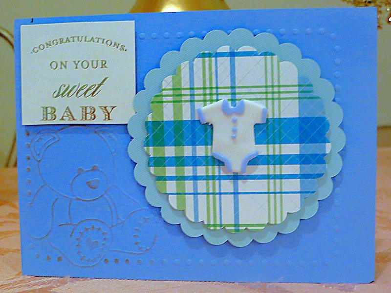 Front of Congratulations to the Family with their Newborn Baby Boy!