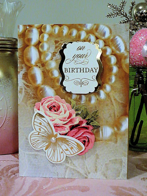 My Vintage Collection of Pearl and Lace Cardstock