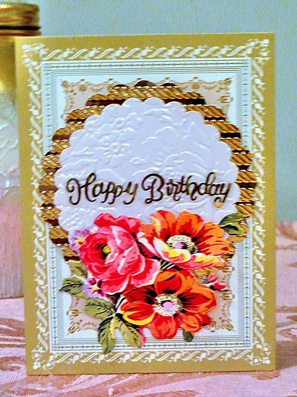 Smaller Card Filled with Much Love! - Anna Griffin Frame Background Card