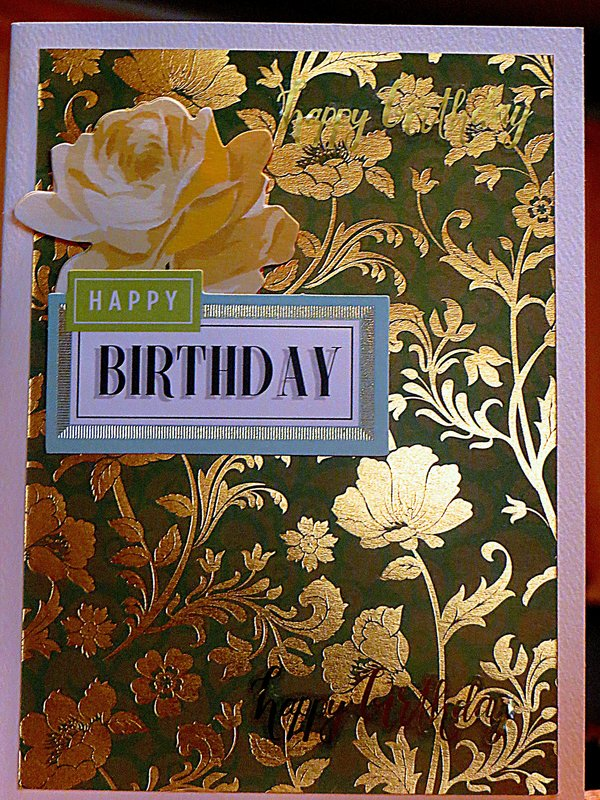 DCWV Cardstock Mat - Green and Gold Hanging Out for the Birthday!