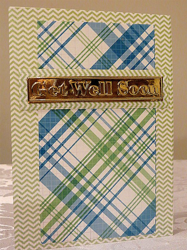 Male or Female Get Well Soon Card - DCWV Stack Paper