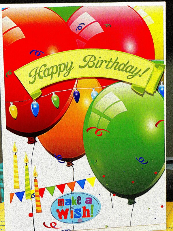 Loving the Colorful Birthday Balloons!