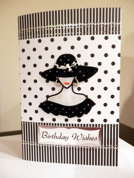 Polka Dots Hat and Dress for My Birthday - Kanban Crafts cardstock