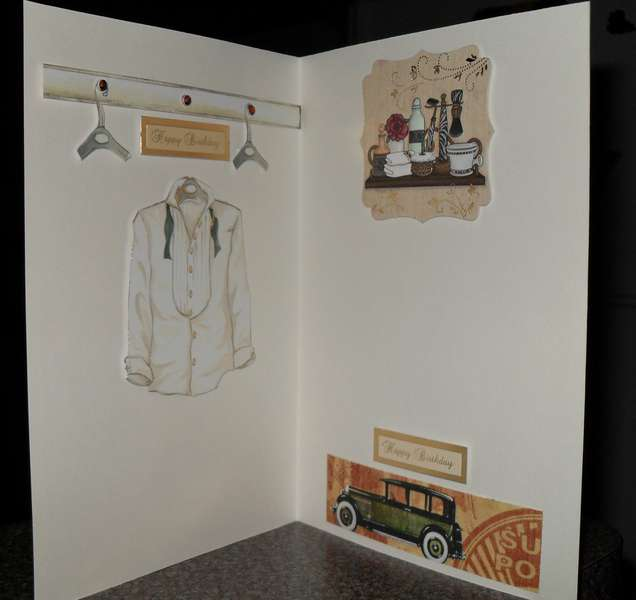 Inside of Male Birthday Card