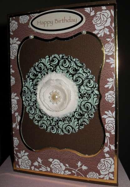 Happy Birthday w/Roses - Kanban Crafts