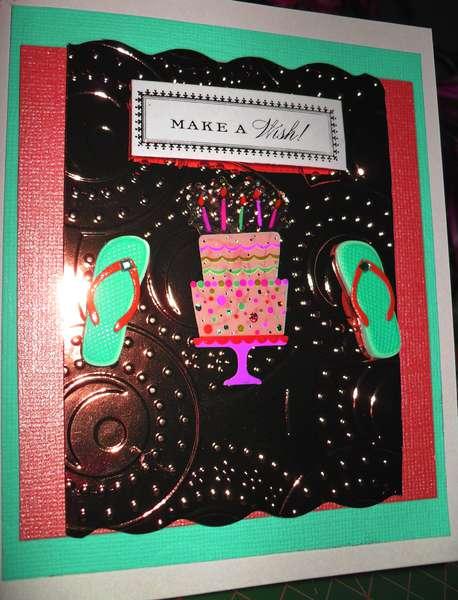Happy Birthday Make Wish Card - Color Edited