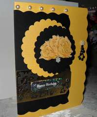 Happy Birthday with Yellow Roses!