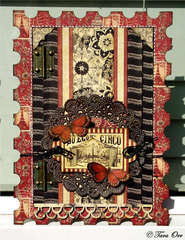 Circus Stamp Card * Graphic 45 *