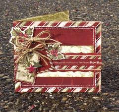 Happy Holidays Card ** Bo Bunny **