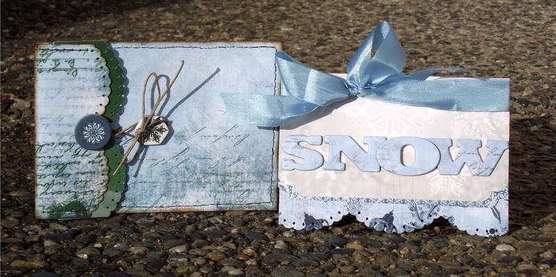 Snow Card & Envelope * Bo Bunny *