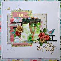 Stay Gold for My Creative Scrapbook
