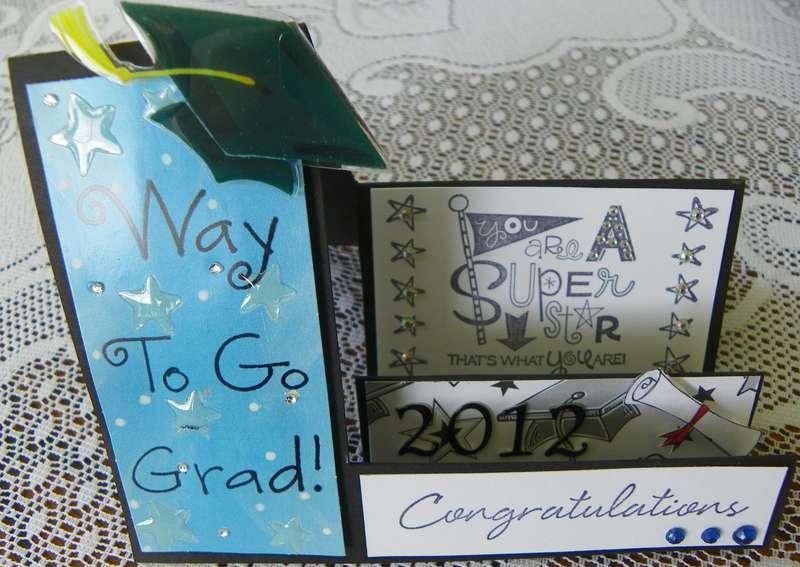 side-step graduation card