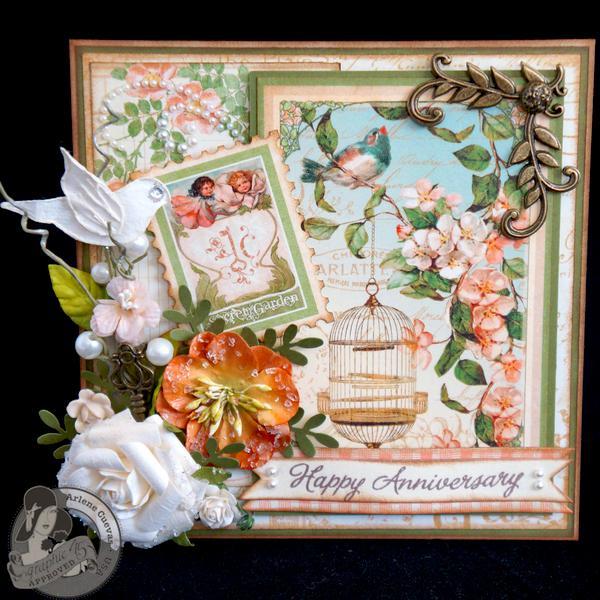 *Graphic 45* Secret Garden Anniversary Card