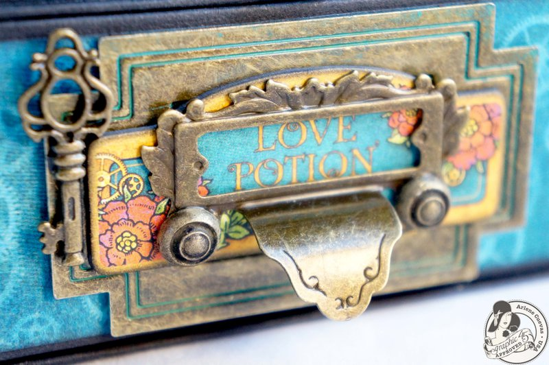 *Graphic 45* Steampunk Spells Easel Card Box Drawer