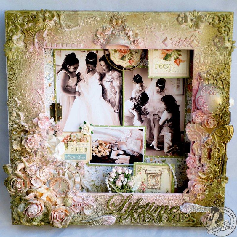 *Graphic 45* Secret Garden Mixed Media Altered Matchbook Box Layout