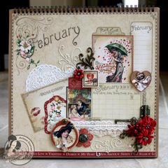 *Graphic 45* Place in Time February Calendar Page