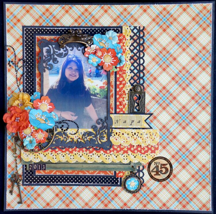 """*Graphic 45* Mother Goose """"Napa"""" layout"""