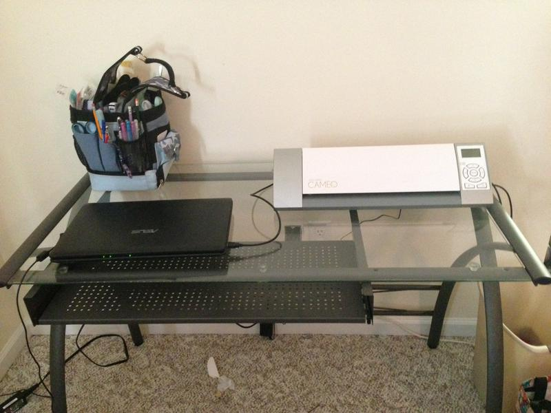 My new scrap desk