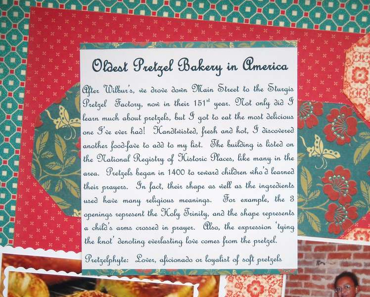 Oldest Pretzel Bakery in America - Closeup of Journalling