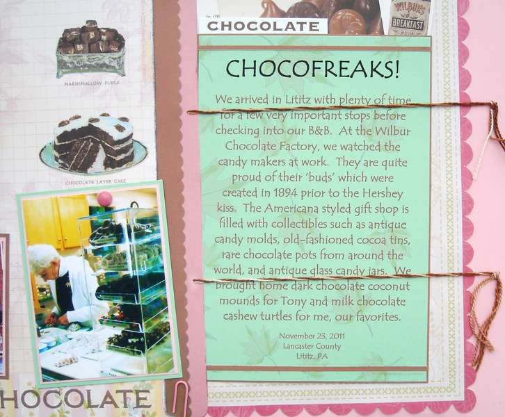 Chocofreaks!  Journalling Closeup