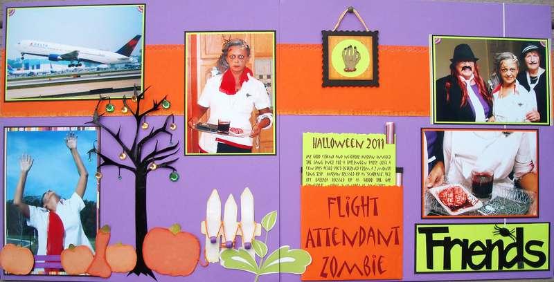 Flight Attendant Zombie - Halloween 2011