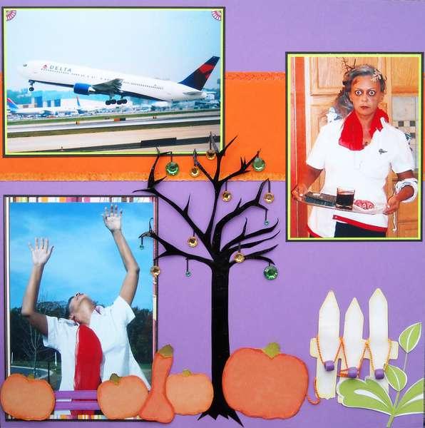 Flight Attendant Zombie - Halloween 2011, Left Side