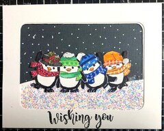 Christmas card 2019 Penguins