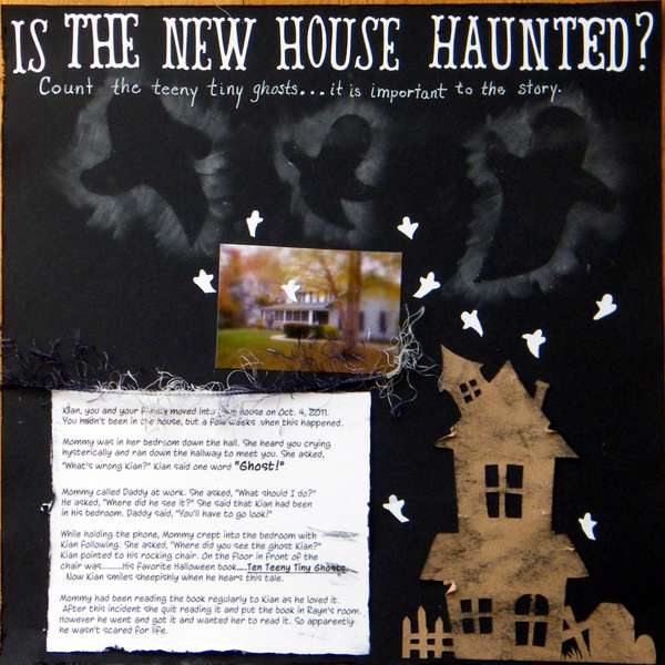 Is the New House Haunted? Count the teeny tiny ghosts as they are important to the story.