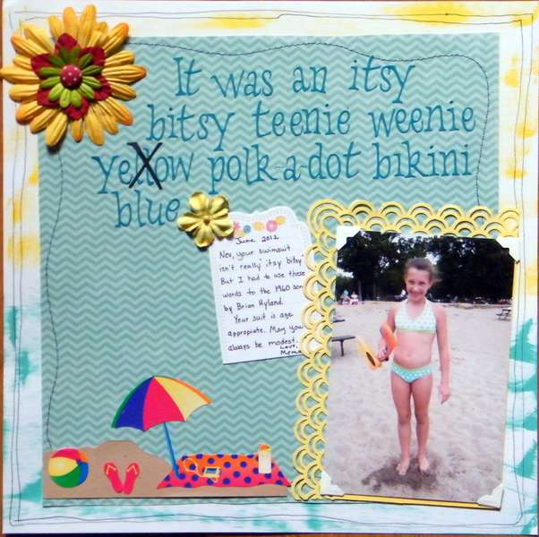 It was an Itsy, bitsy, teenie, weenie, yellow polk-a-dot Bikini
