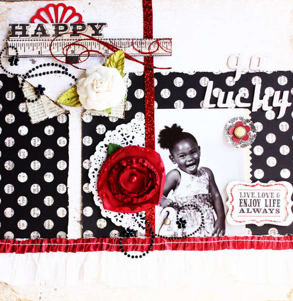 Happy go lucky **Scrapbook Daisies**
