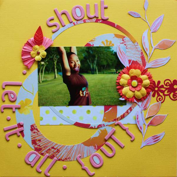 shout let it all out (scrap n Art Magazine Sep/Oct issue)