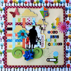 Let's take a stroll **Scrapbook Daisies September kit**