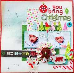 Christmas joy **scrapbook Daisies**