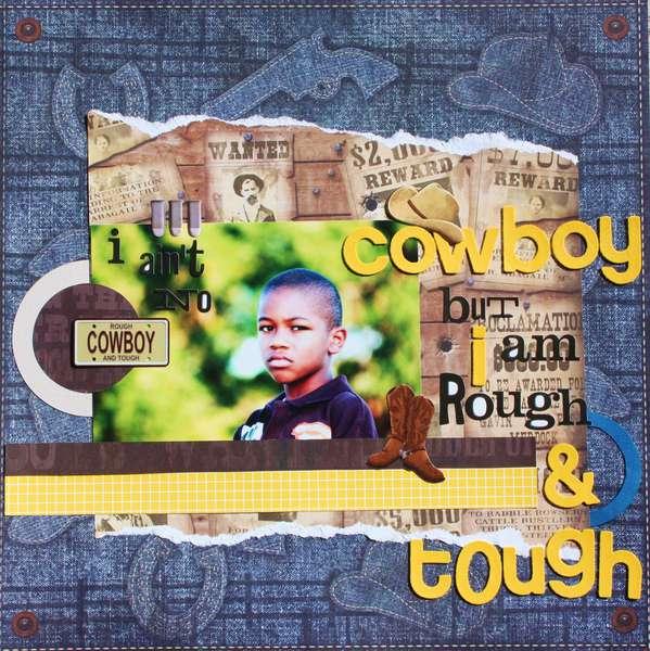 I ain't no cowboy (Scrap n Art Magazine layout)