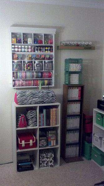 MM shelf, cricut, smaller albums and cricut carts