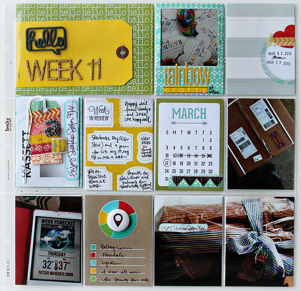 project life week 11 | COCOA DAISY APRIL KIT